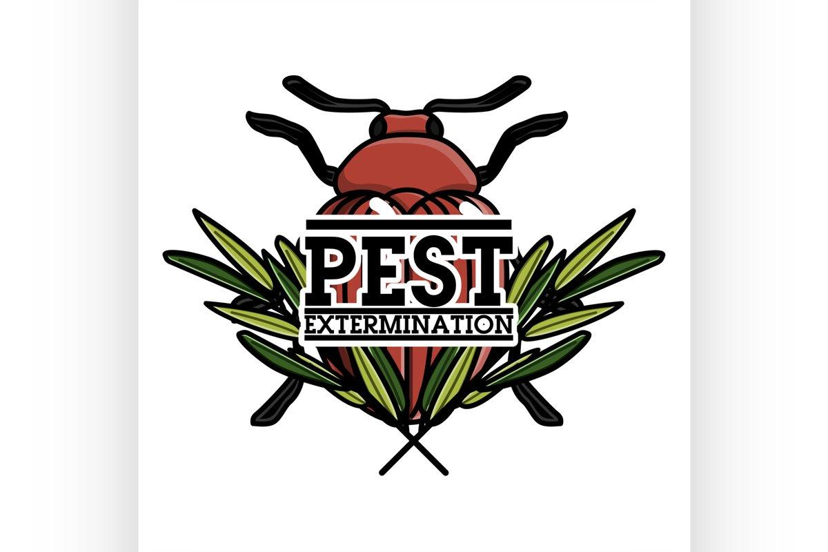 Color vintage pest extermination banner example image 1