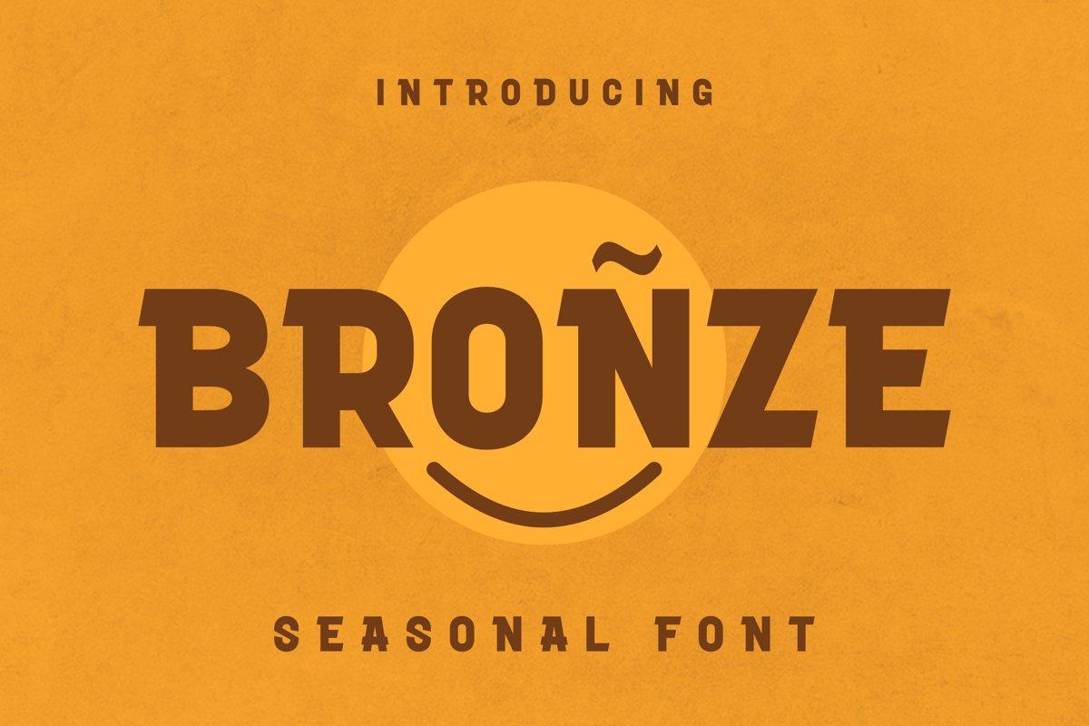 Bronze Font example image 1
