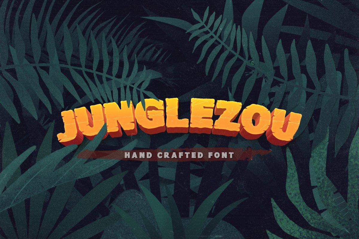 Junglezou Typeface example image 1