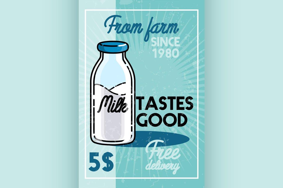 Color vintage milk banner example image 1