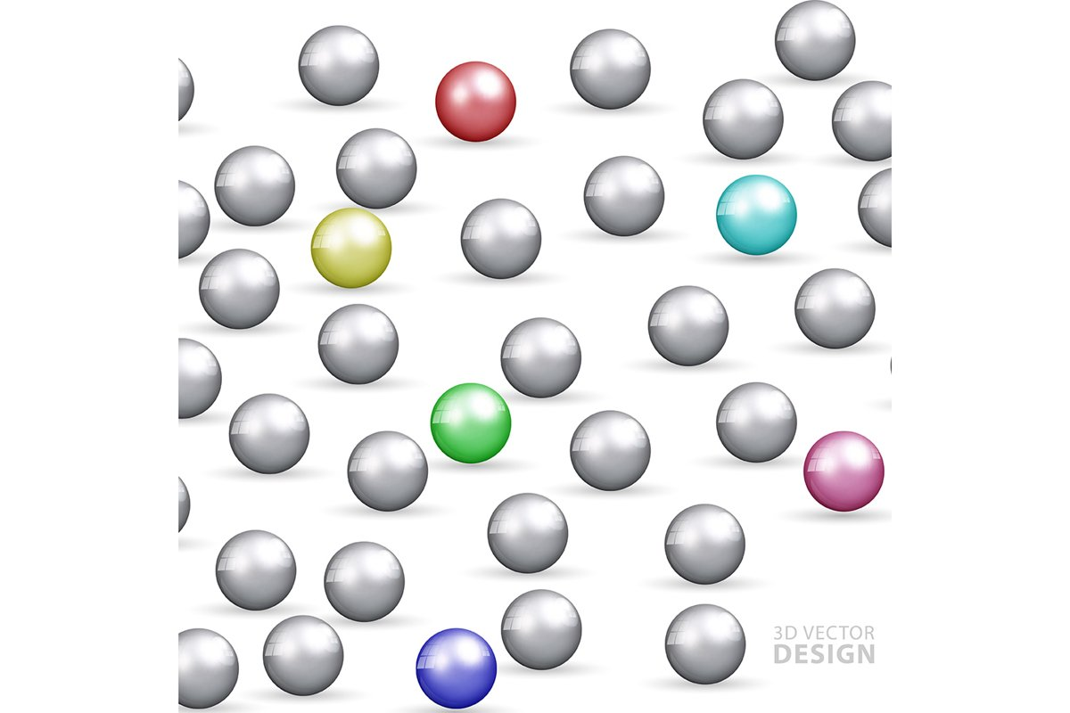 Abstract background design template. 3D sphere ball. vector example image 1