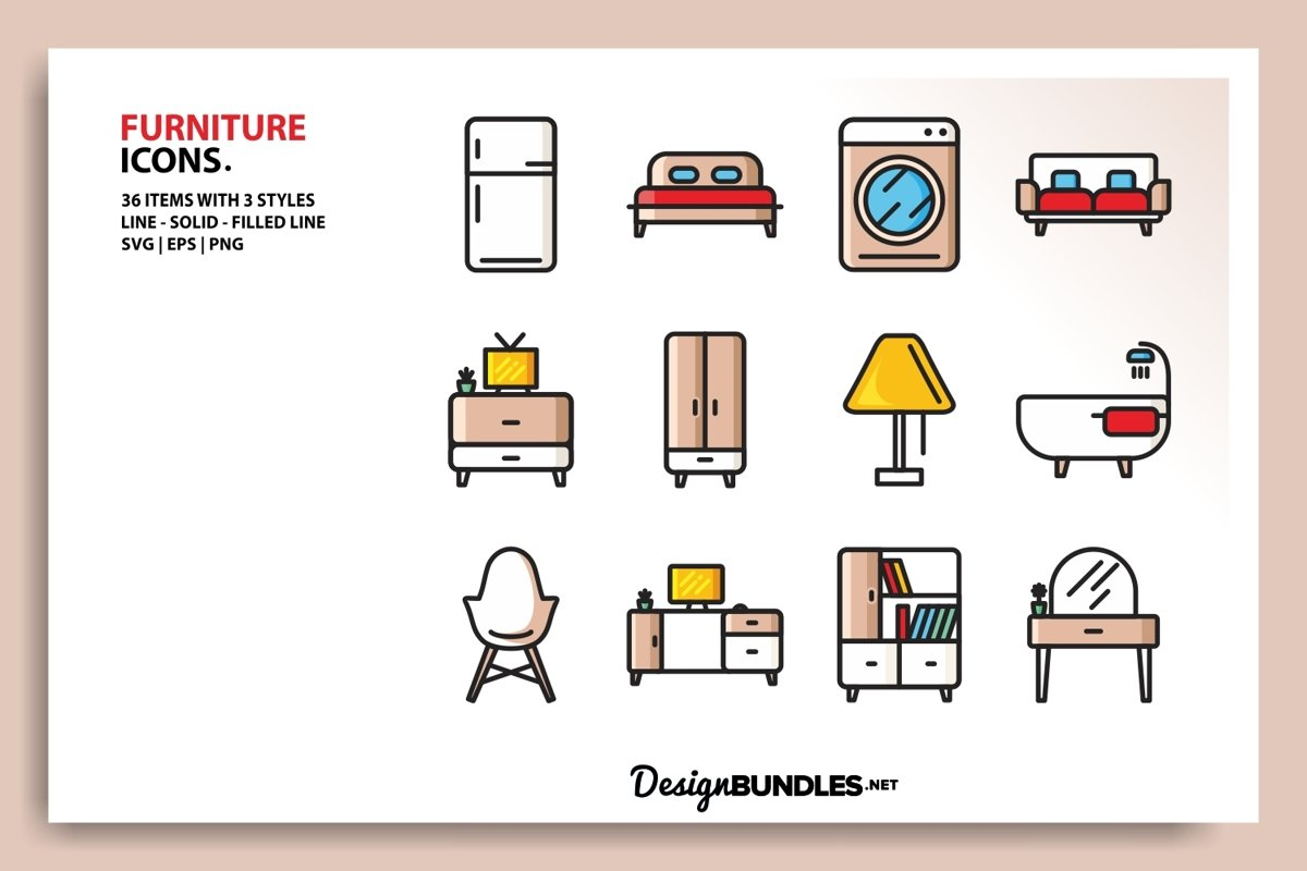 Furniture Icons example image 1