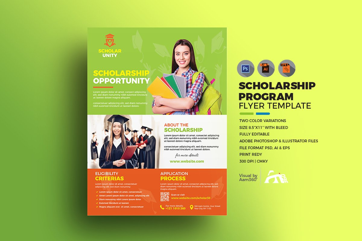 Scholarship Flyer Template example image 1