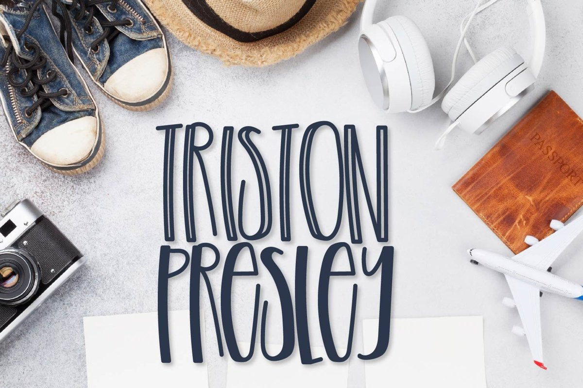 Triston Presley - A Tall Boy Font Duo example image 1