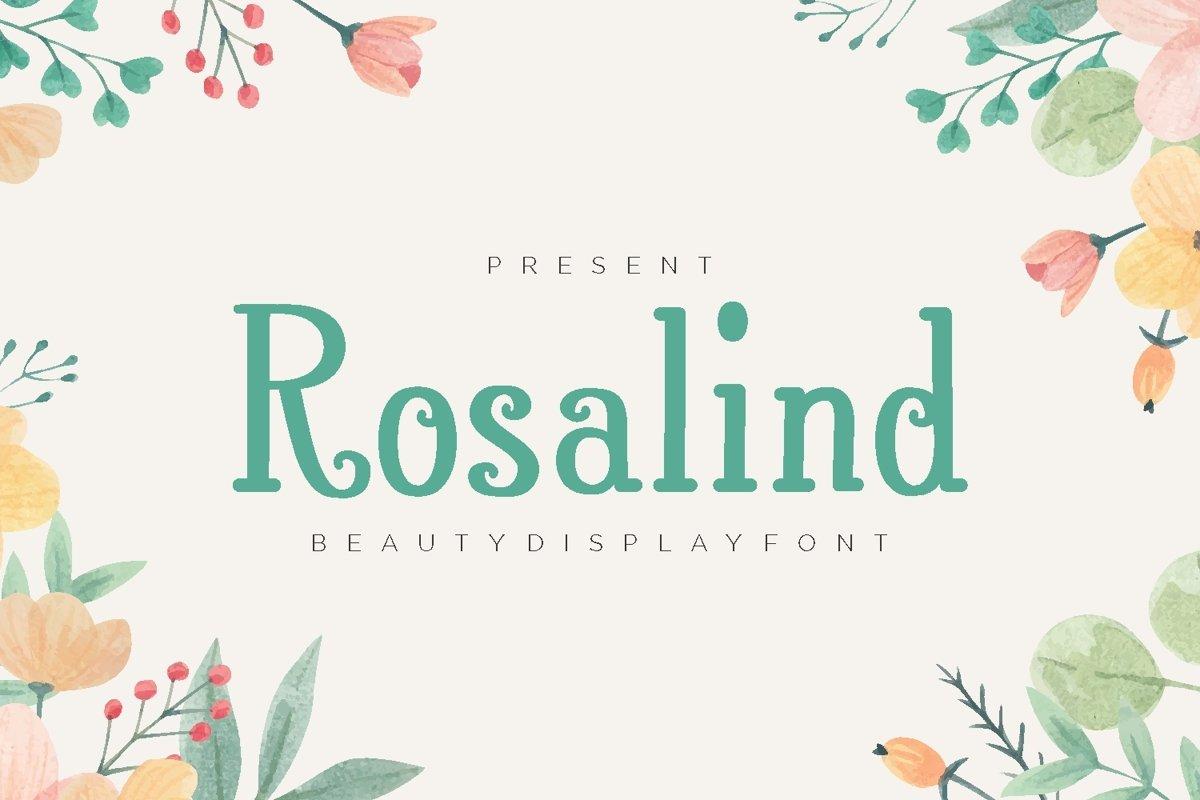 Rosalind - Beauty Display Font example image 1