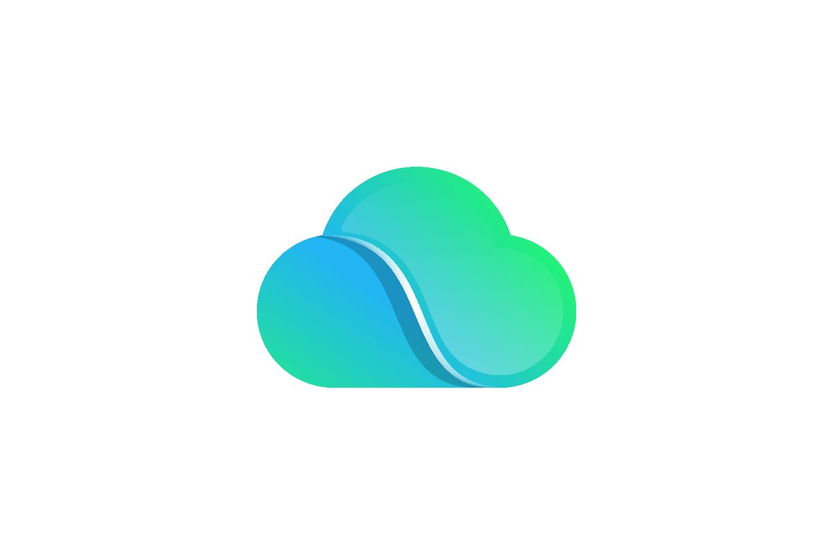 Cloud Connect Logo design vector isolated example image 1