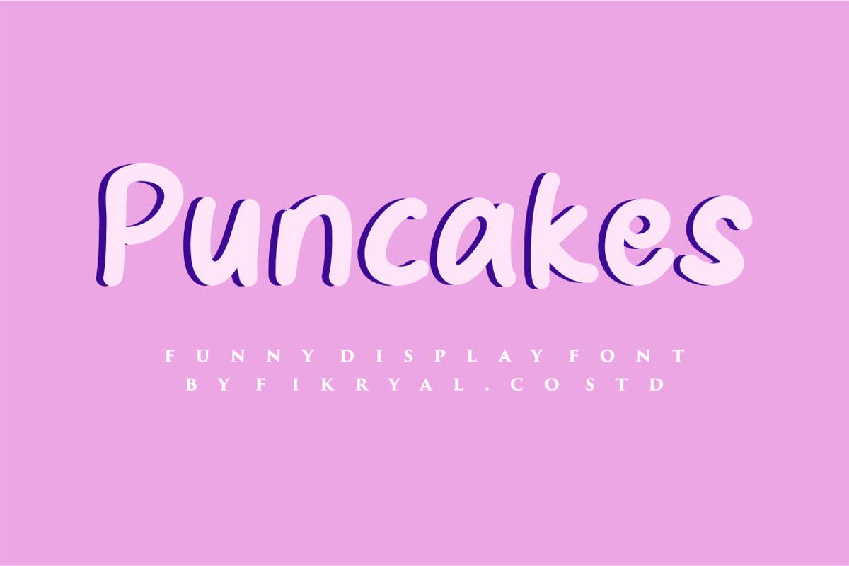 Puncake - funny font example image 1