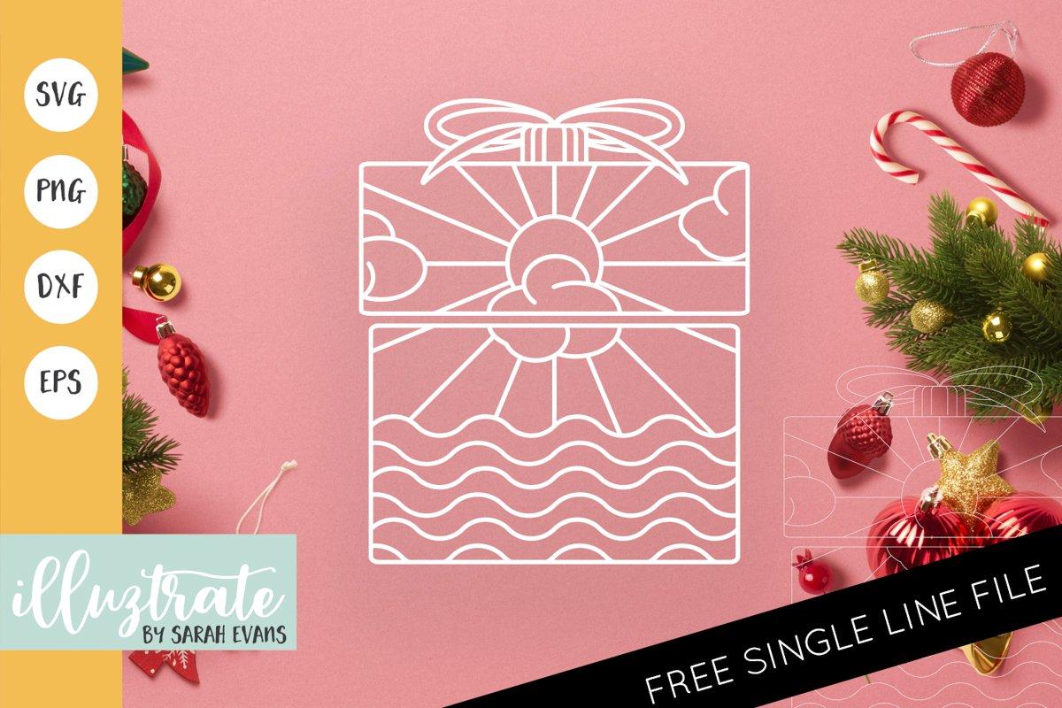 Christmas Present Mandala SVG | Christmas Mandala SVG File example image 1