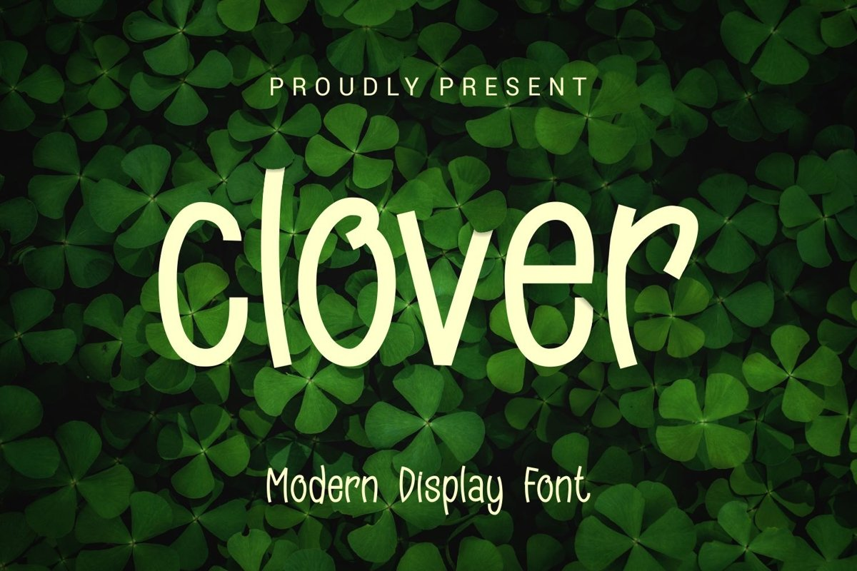 Clover - Modern Display Typeface example image 1
