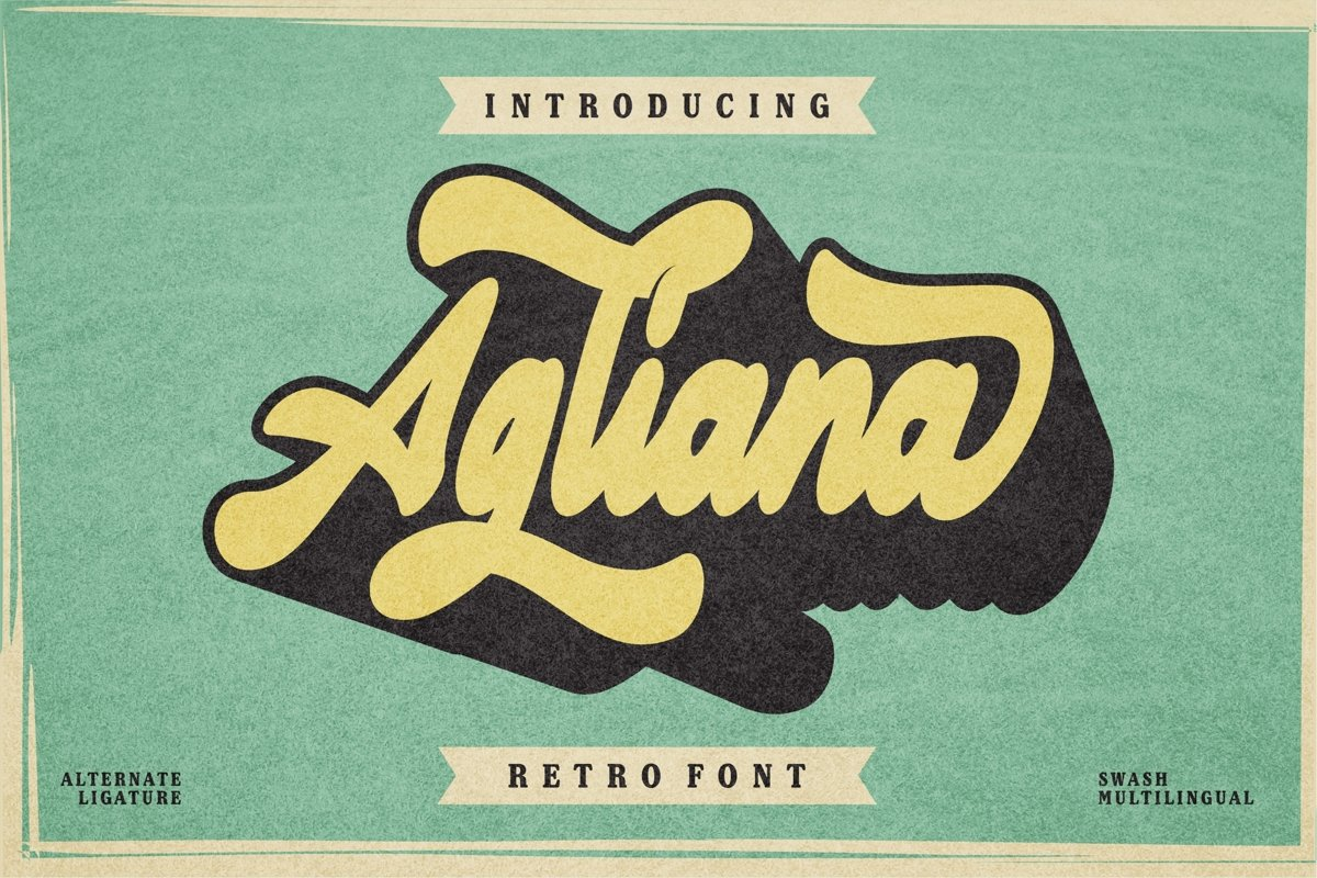 Agliana - Retro Font example image 1