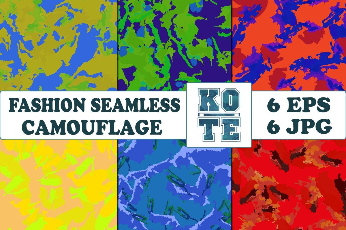 6 Seamless Fashion Camouflage example image 1