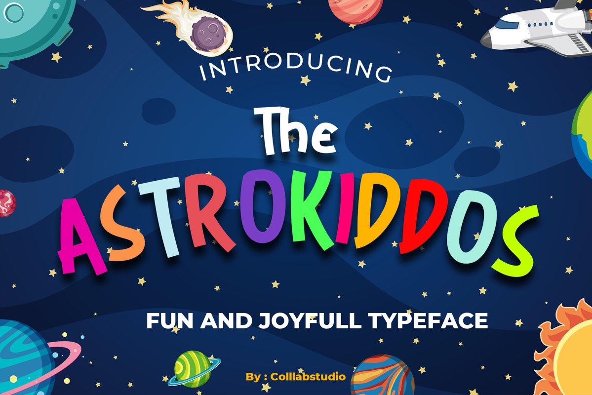 The Astrokiddos - A Fun & Joyfull Font example image 1