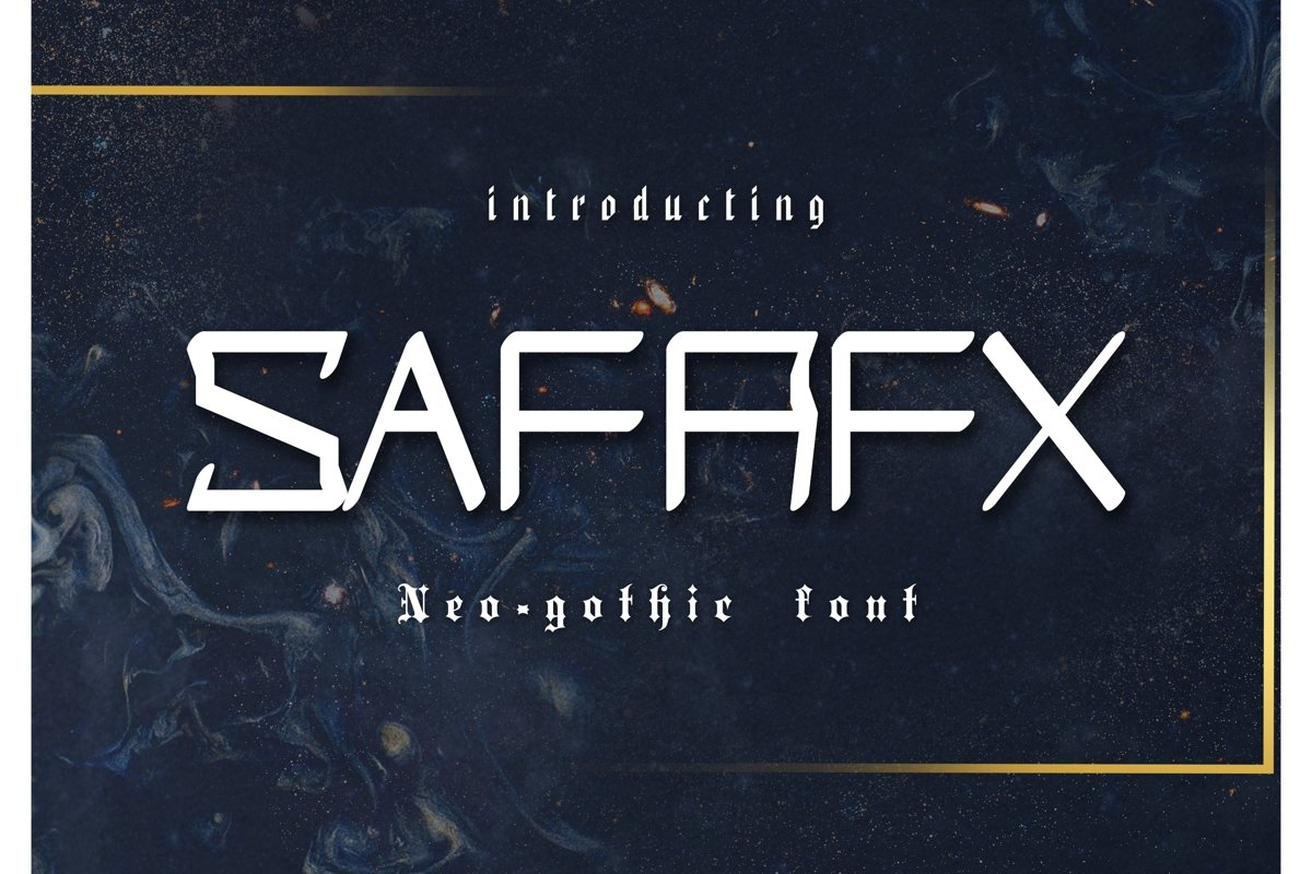Safrax Neo-Gothic Font example image 1