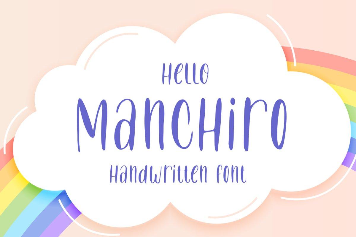 Manchiro - Handwritten Font example image 1