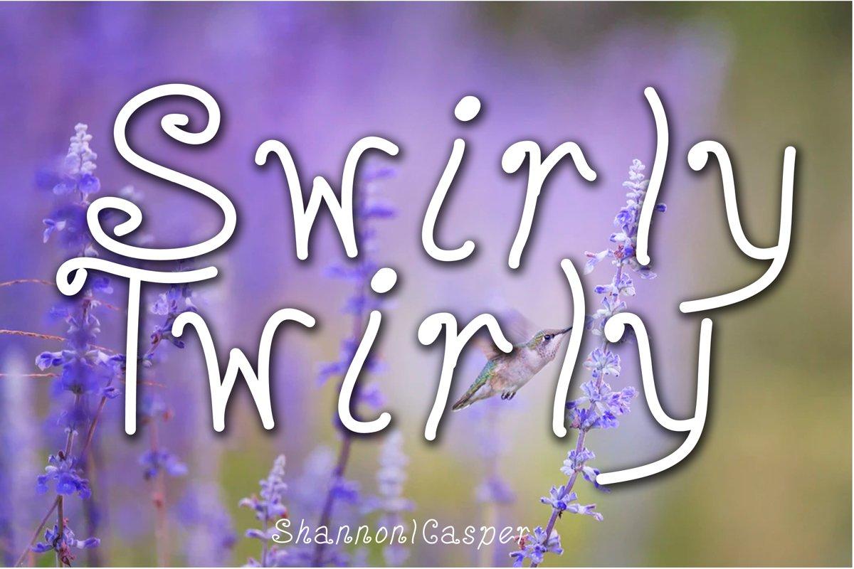 Swirly Twirly Fun Font example image 1