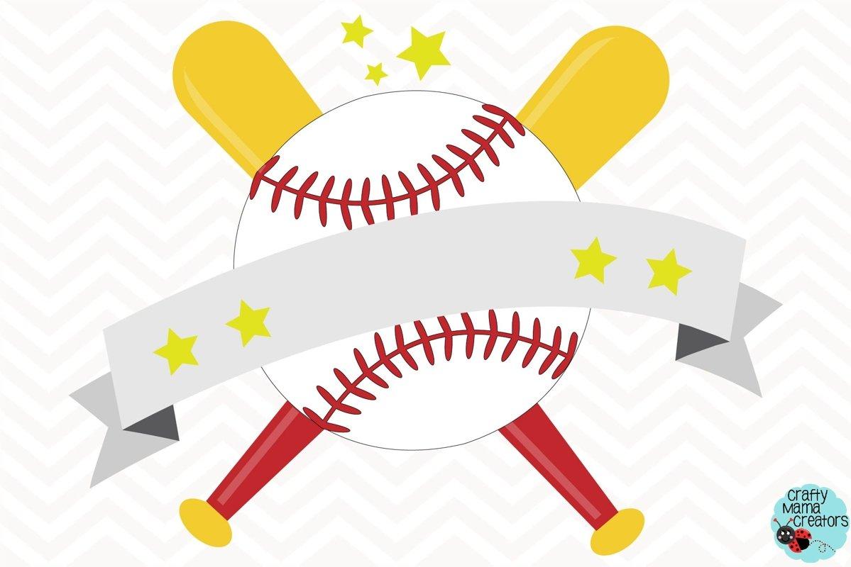 Baseball Svg, Baseball Banner, Monogram Softball Svg example image 1