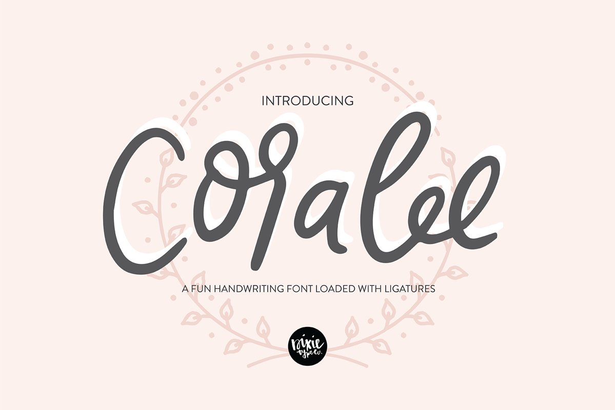 CORALEE a Bouncy Handwriting Script Font with Ligatures example image 1