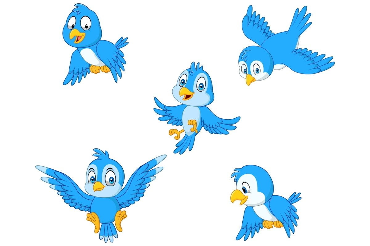 Blue Birds Clipart Set Graphic example image 1