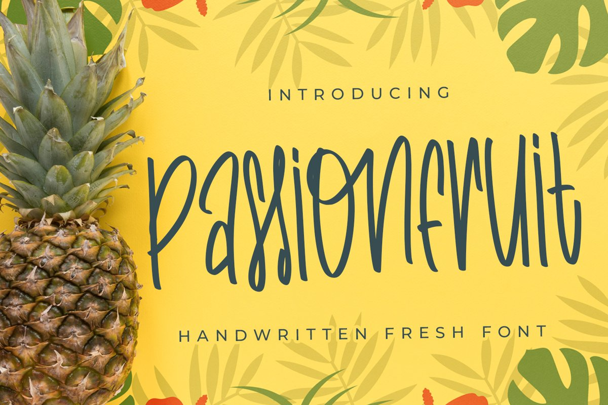 Passionfruit - Fancy Fonts example image 1