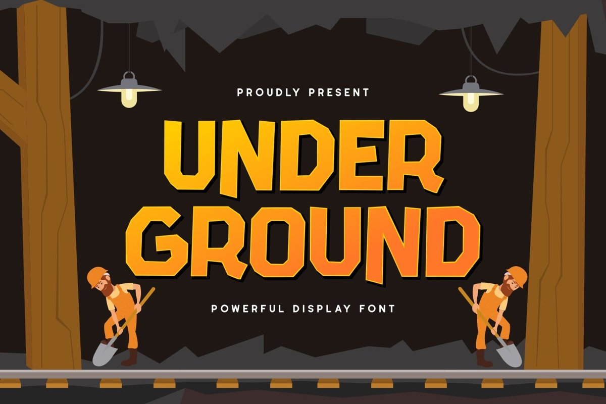 Under Ground - Powerful Display Font example image 1