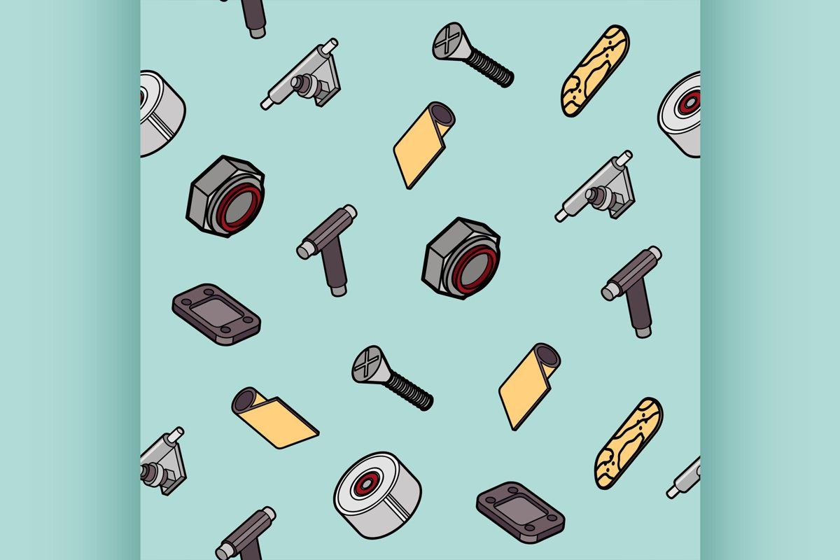 Skateboard spare parts pattern example image 1