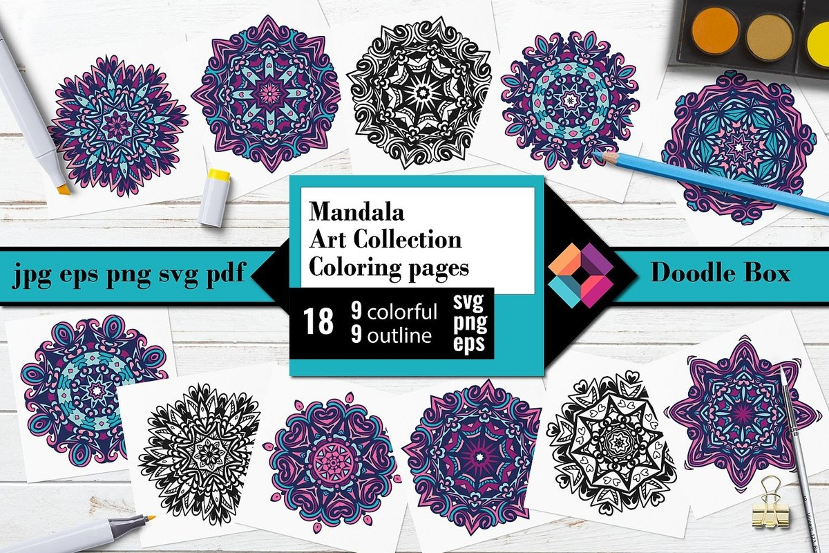 Mandala Art Collection Coloring Pages example image 1