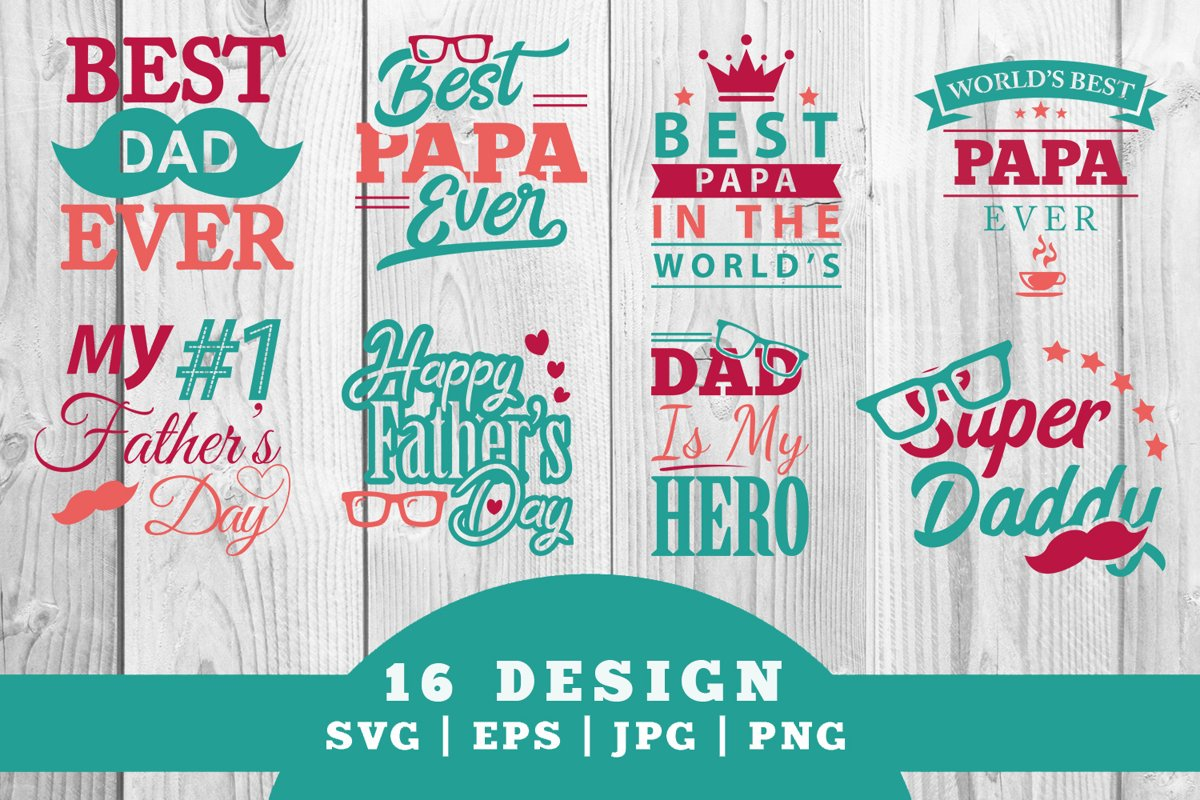 Fathers Day SVG Bundle example image 1