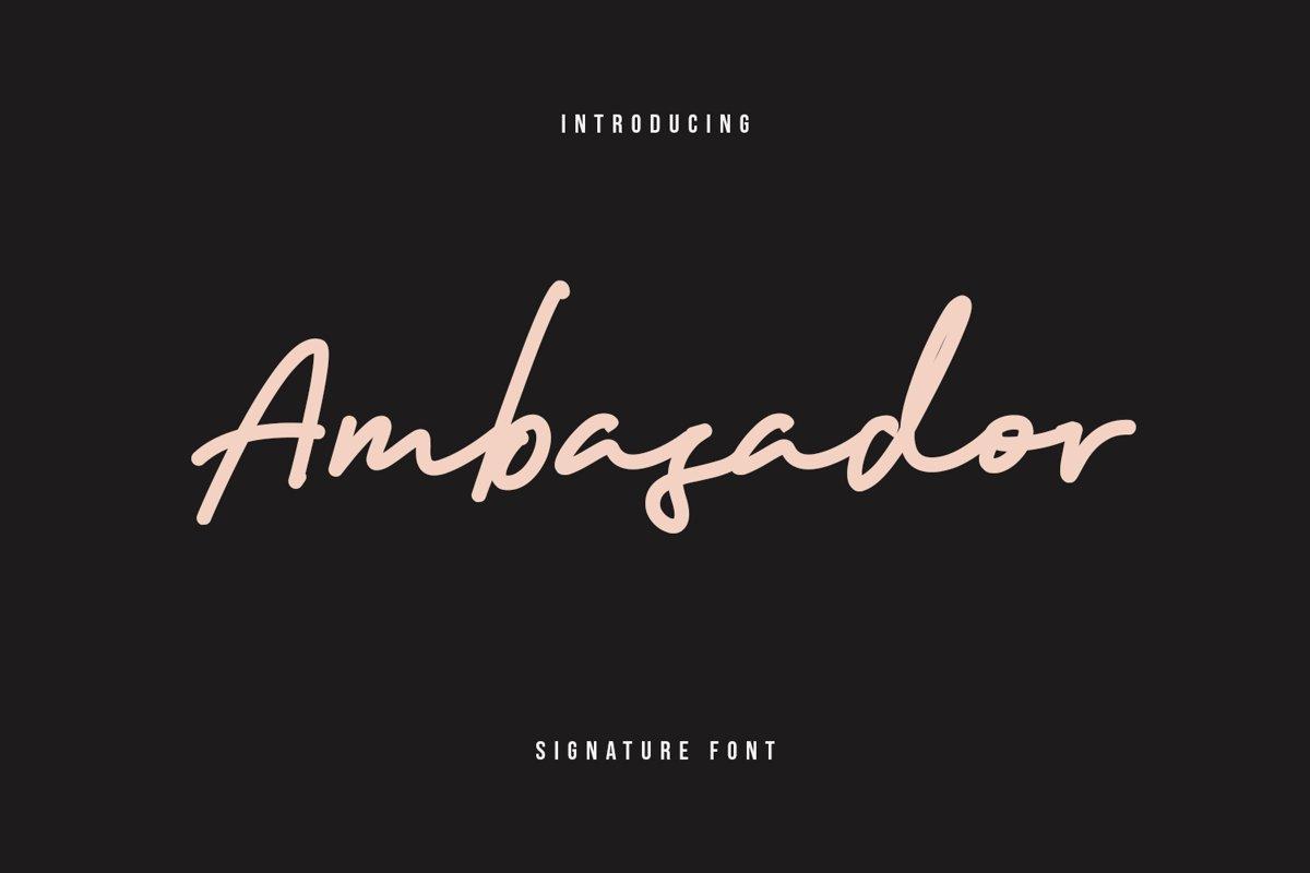 Ambasador Signature Font example image 1