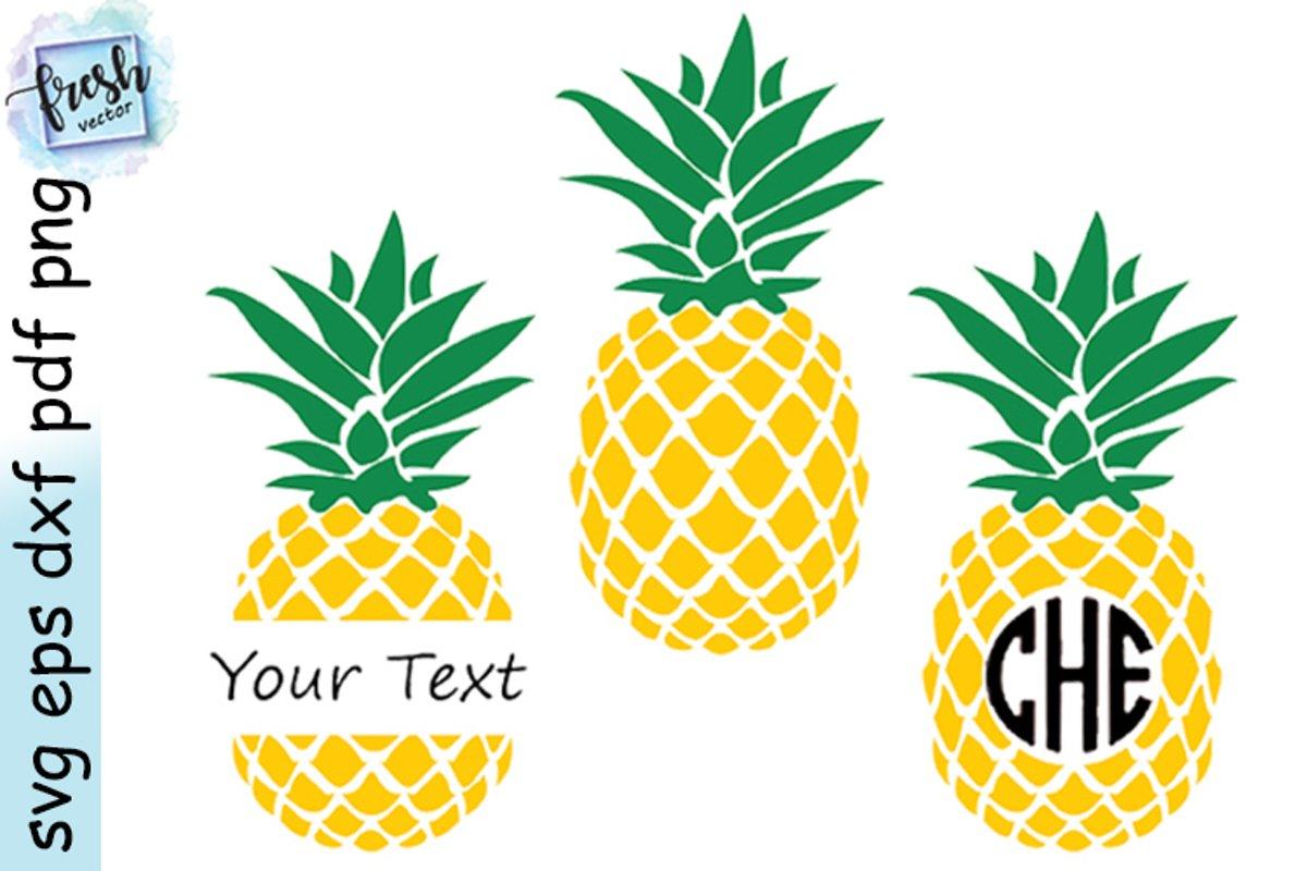 Download Pineapple Svg Bundle Pineapple Monogram SVG Summer Svg ...