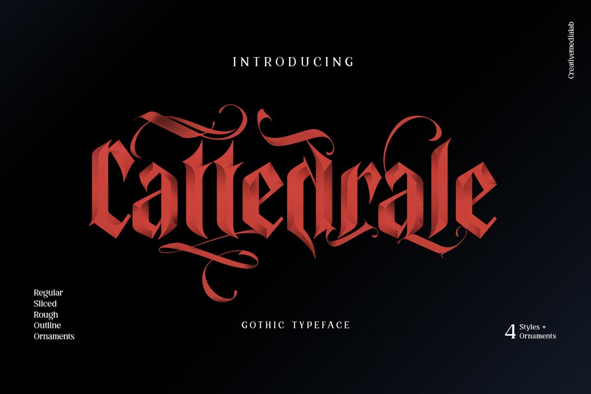 Cattedrale - Gothic Blackletter example image 1