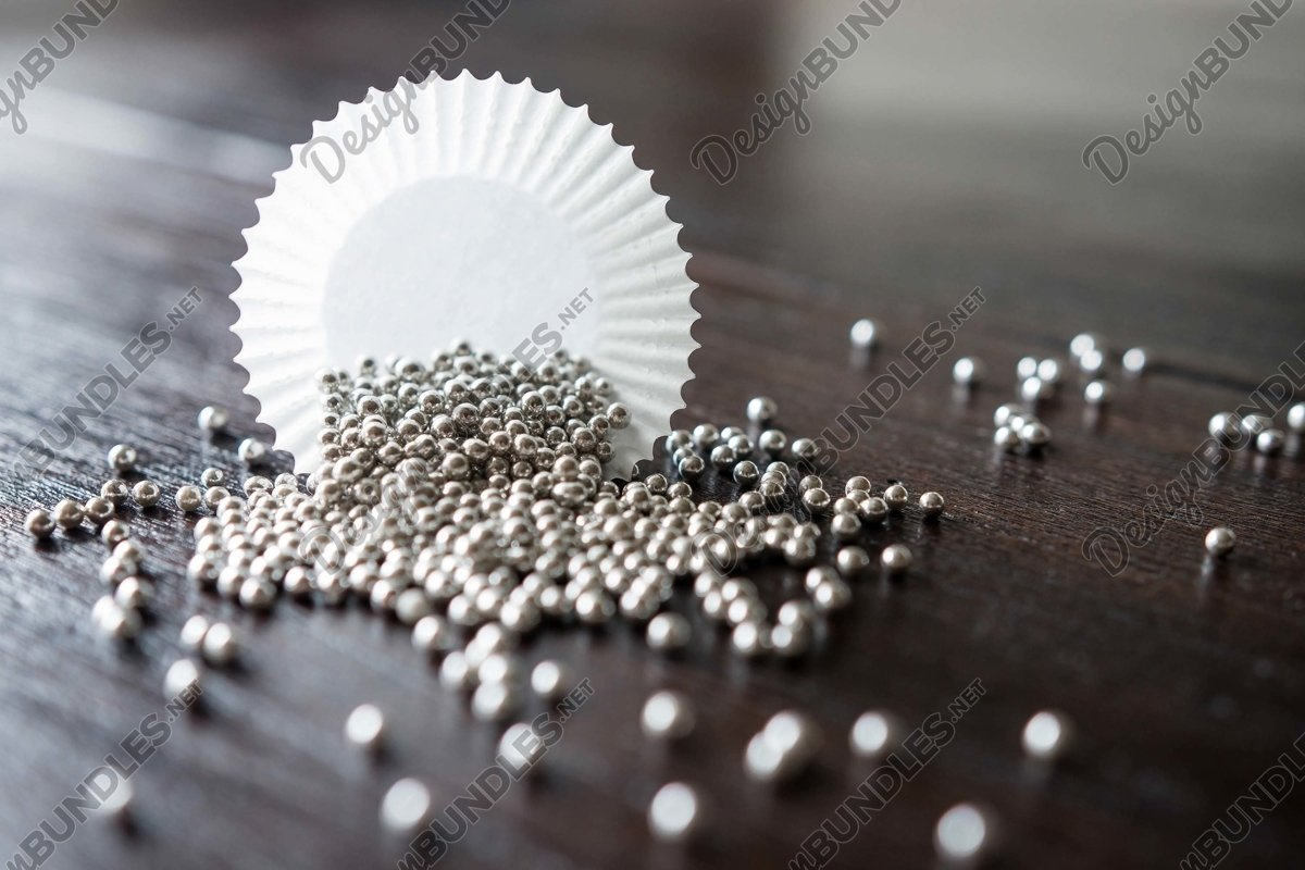 Stock Photo - Beads spilled on the table example image 1