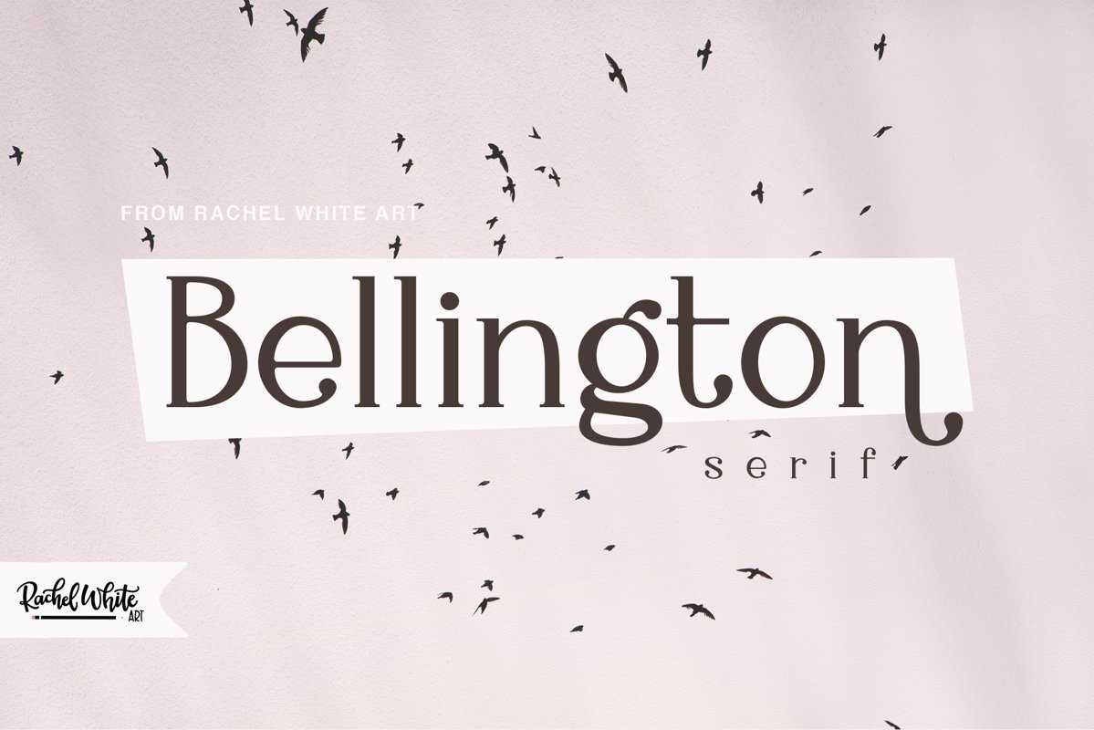 Bellington, a charming serif font example image 1