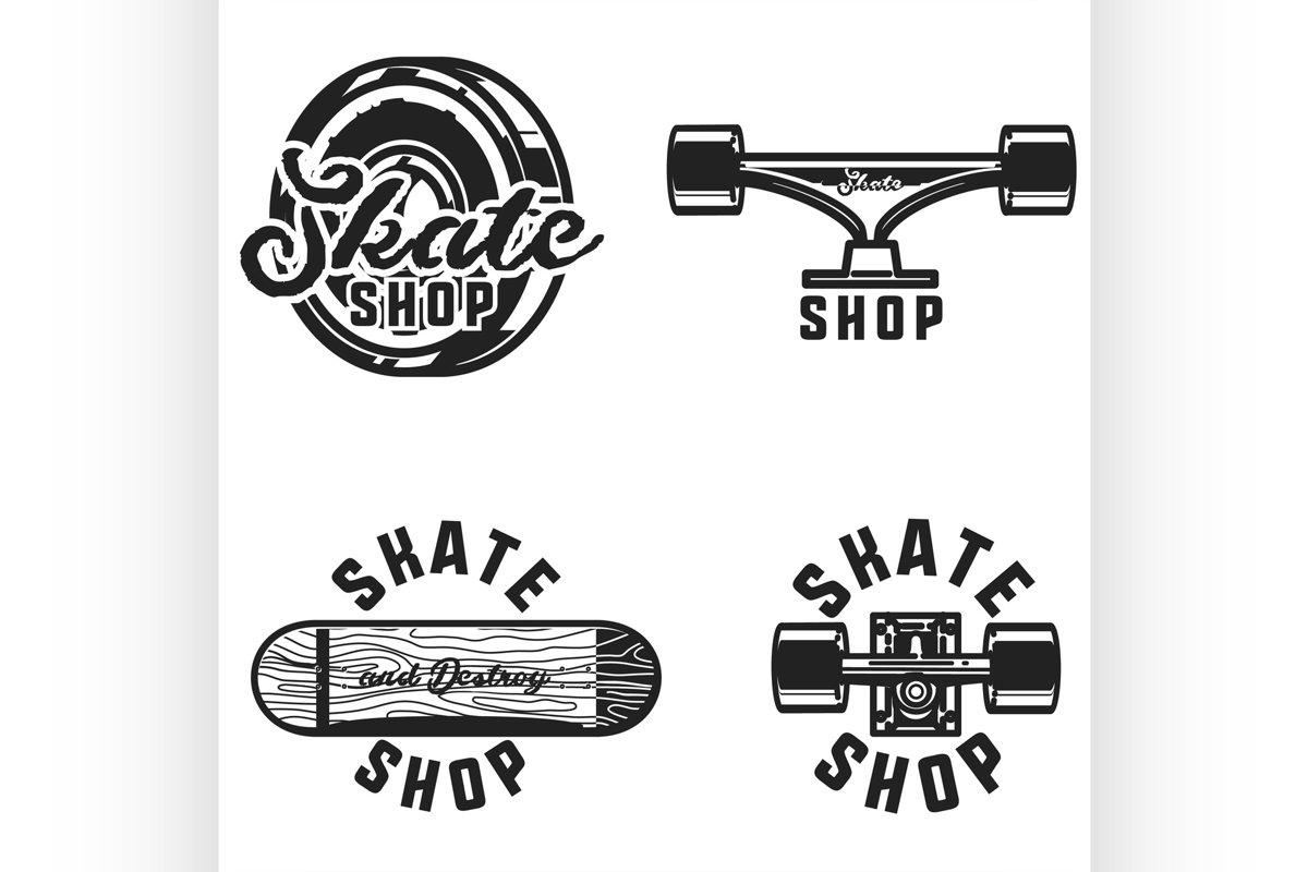 Vintage skate shop emblems example image 1