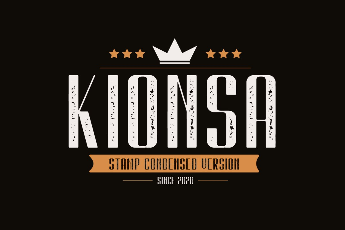 Kionsa Stamp - Vintage Display font example image 1