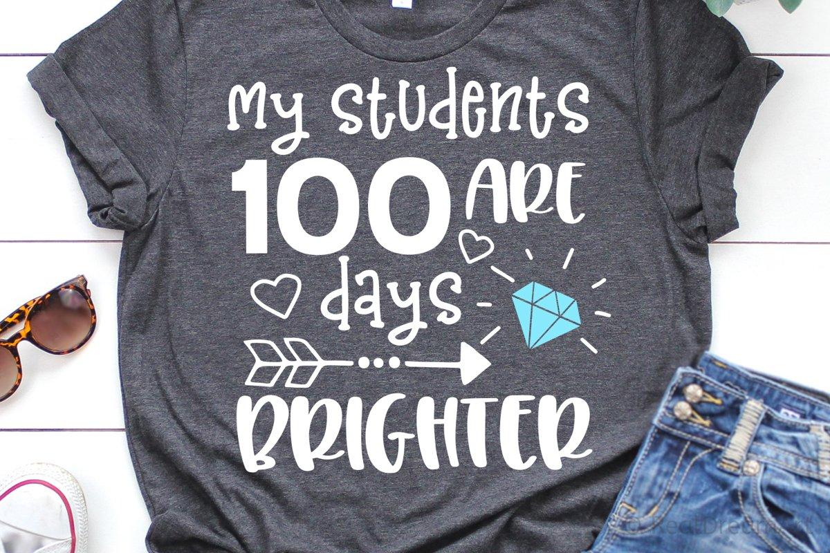 Download My Students Are 100 Days Brighter Svg Dxf Png Eps 432778 Svgs Design Bundles