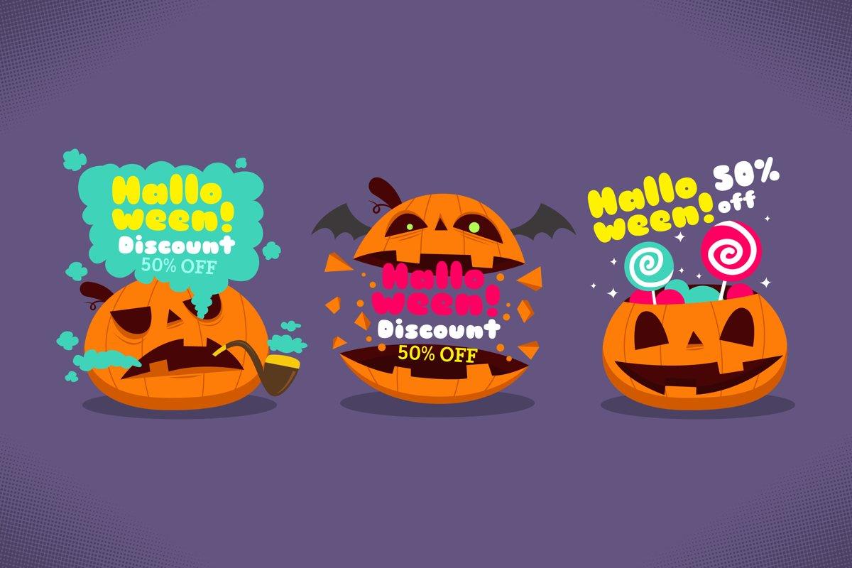 Halloween Sale Labels example image 1