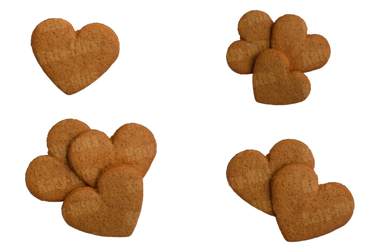 Heart shaped cookies. Gingerbread. Traditional for Christmas example image 1