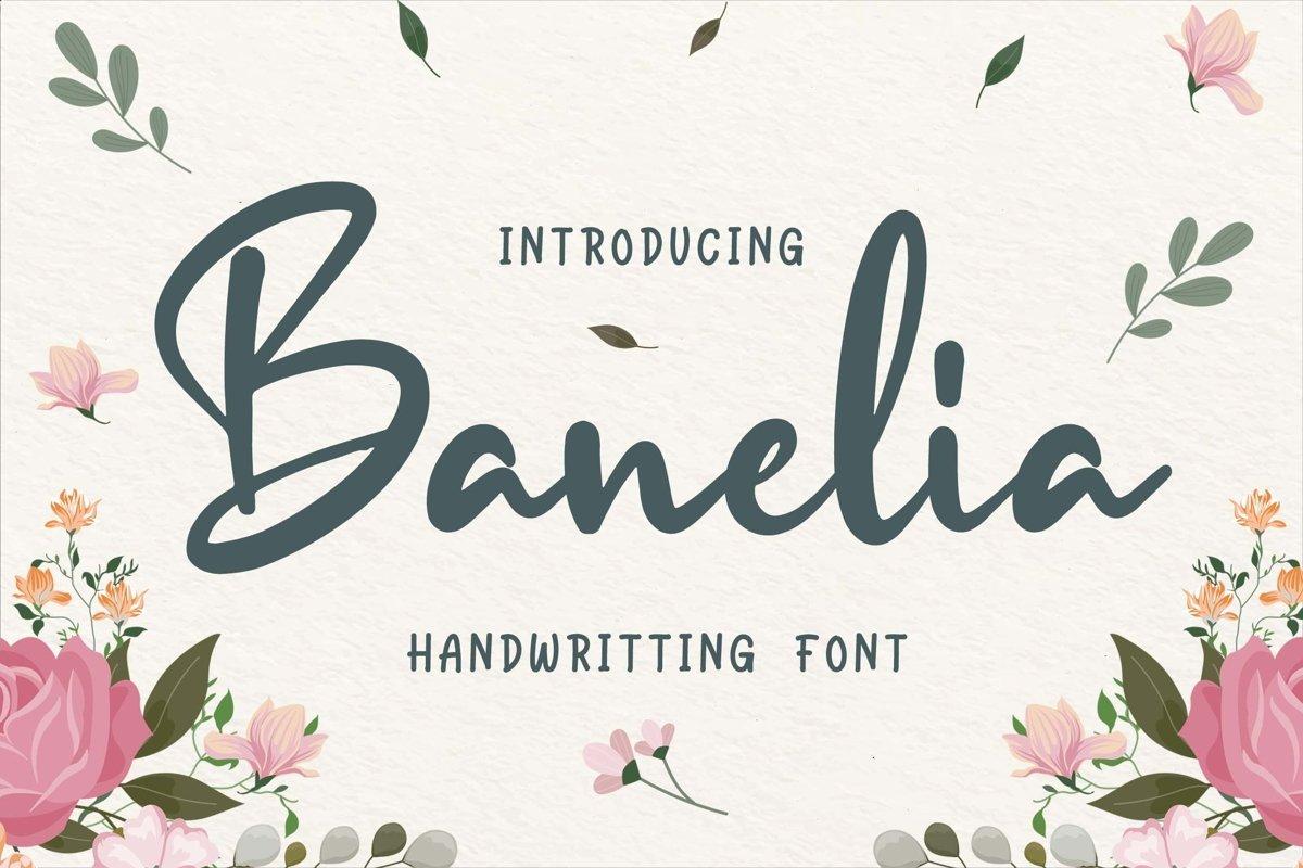 Banelia Handwritting Font example image 1