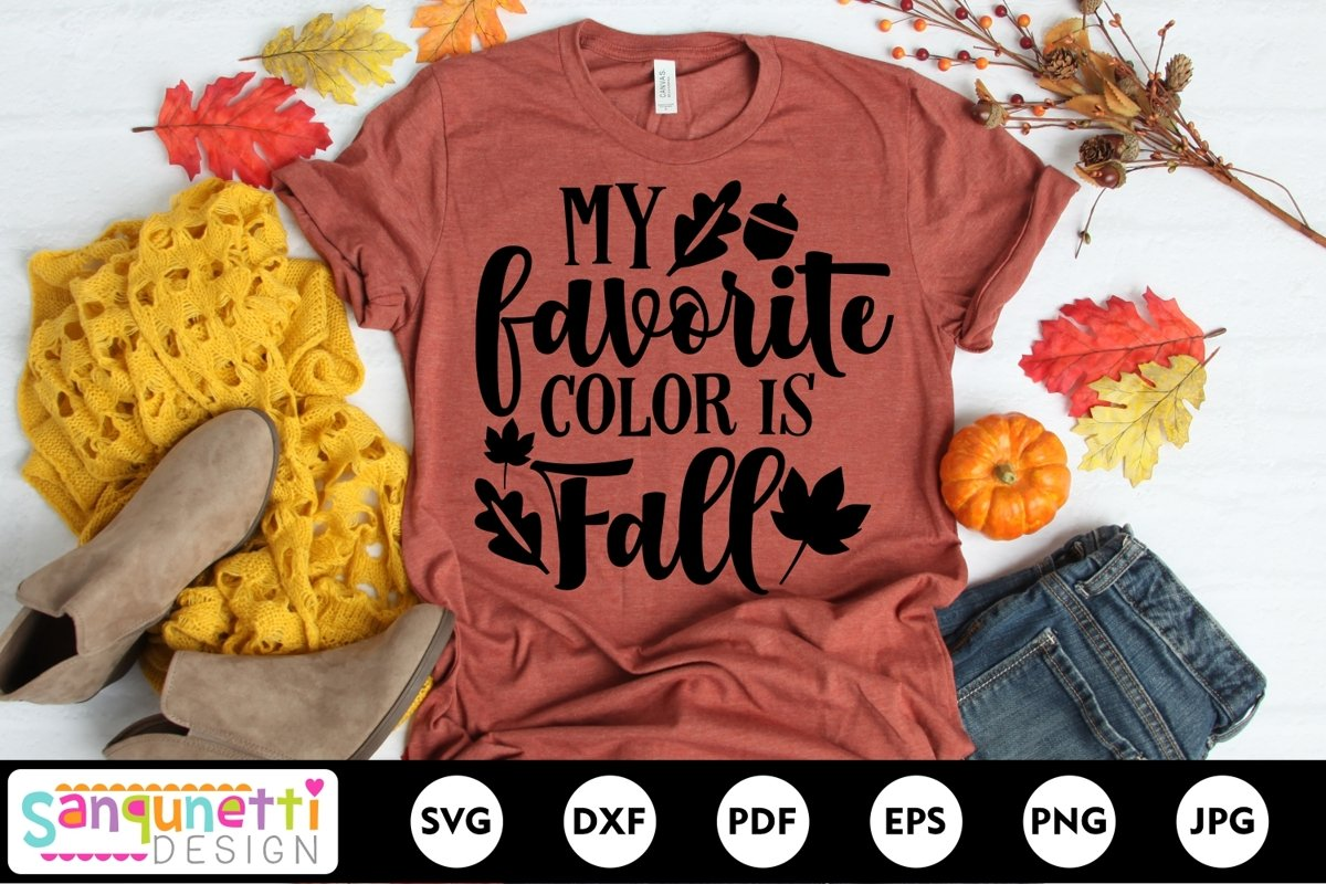 My favorite color is fall svg, autumn svg, fall quote svg example image 1
