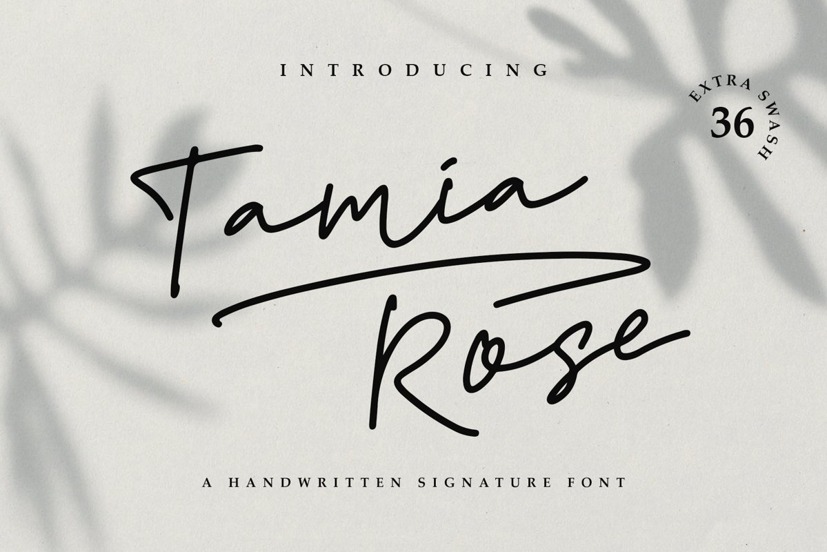 Tamia Rose Signature - Extra Swashes example image 1