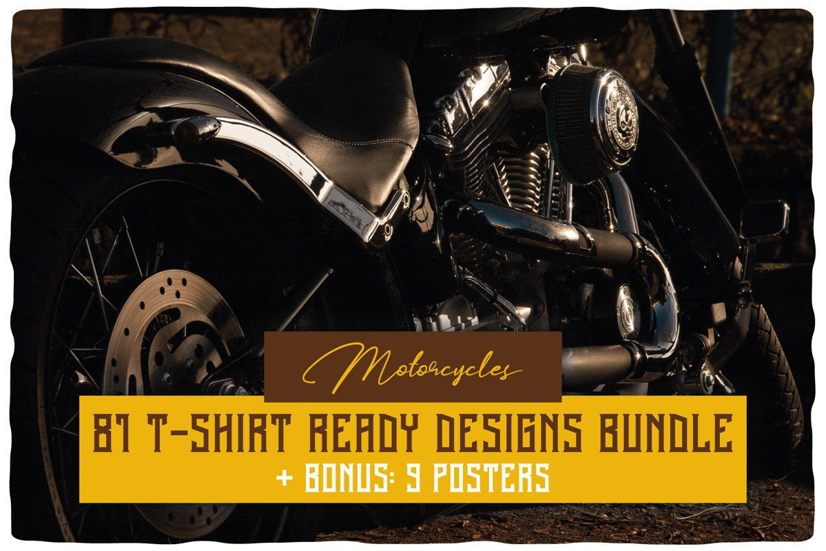 Motorcycles T-shirt Designs BUNDLE example image 1