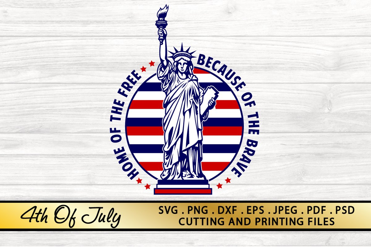 4th of July SVG PNG DXF EPS Patriotic SVG American Flag SVG example image 1
