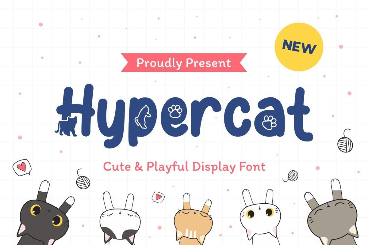 HyperCat - Cute & Playful Display Font example image 1