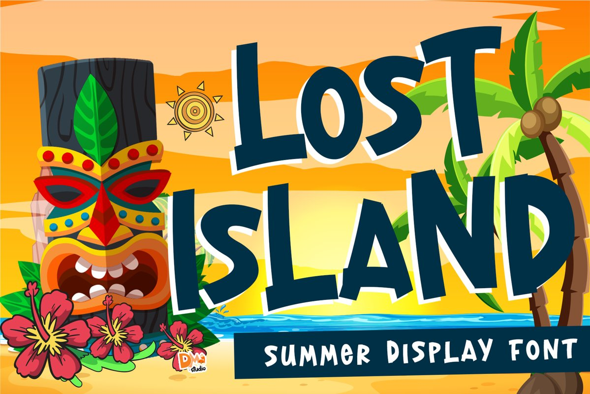 Lost Island - Summer Display Font example image 1