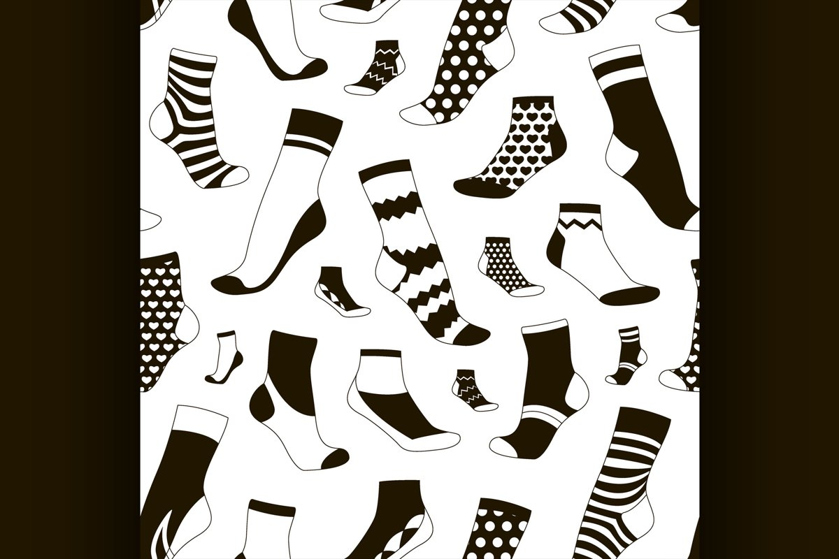 Pattern of colored socks example image 1