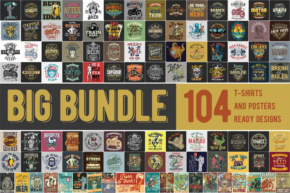 T-shirts and posters Big Bundle 2.0 example image 1