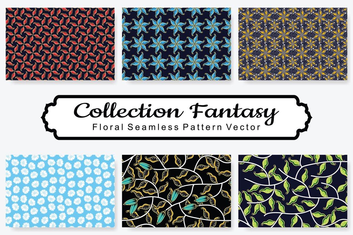 Set Of Fantasy Floral Vector Pattern Vol.16 example image 1