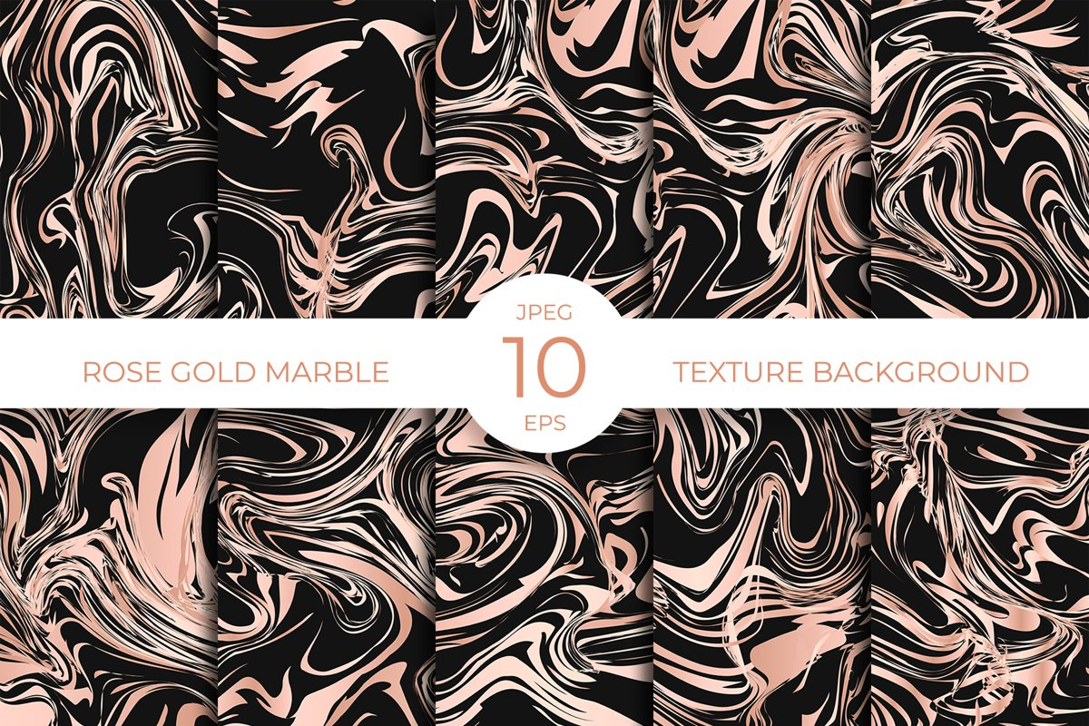 Black and rose gold marble texture abstract background example image 1