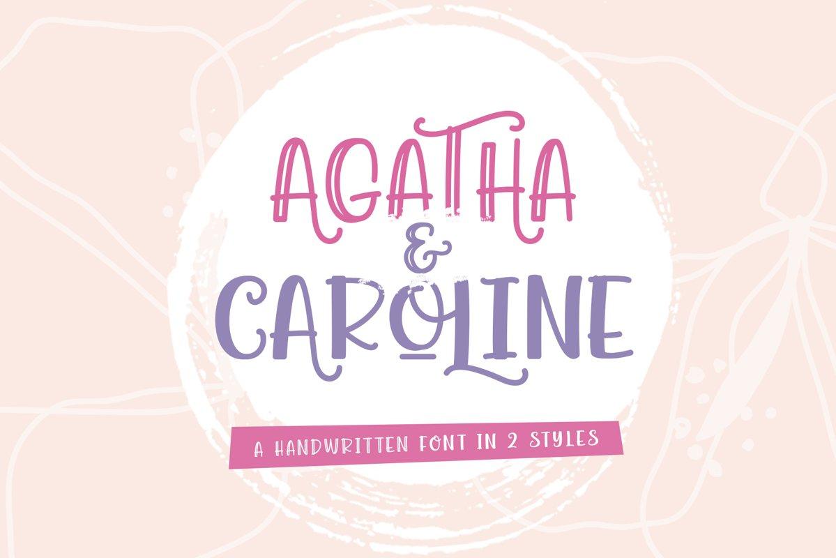 Agatha Caroline - Handwritten Font in 2 Styles example image 1