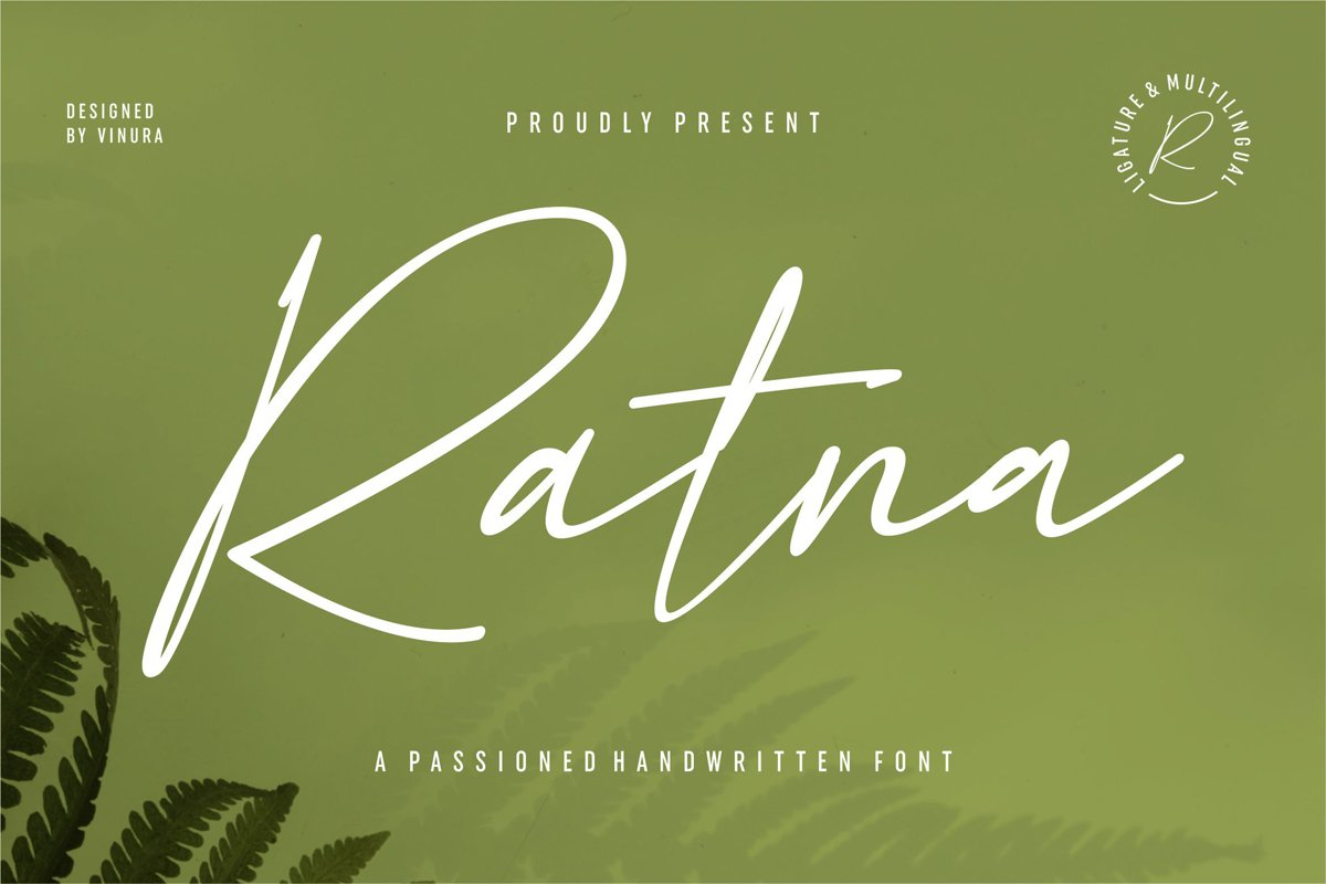 Ratna | A Passioned Handwritten Font example image 1